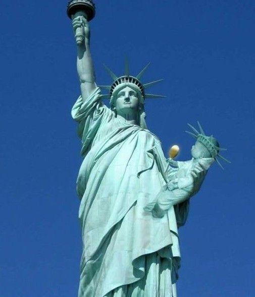 自由女神像自由很雷人 5图片 34374 505x589